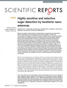 Highly sensitive and selective sugar detection by ... - Semantic Scholar