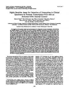 Highly Sensitive Assay for Detection of Enterovirus in Clinical ...