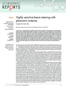 Highly sensitive beam steering with plasmonic antenna - BioMedSearch