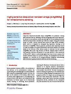 Highly sensitive deep-silver-nanowell arrays - Springer Link