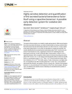 Highly sensitive detection and quantification of the secreted ... - PLOS