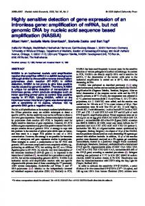 Highly sensitive detection of gene expression of an ... - BioMedSearch