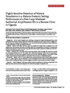 Highly Sensitive Detection of Malaria Parasitemia in a ... - BioMedSearch