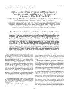 Highly Sensitive Direct Detection and Quantification of Burkholderia ...