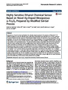 Highly Sensitive Ethanol Chemical Sensor Based on Novel Ag-Doped ...