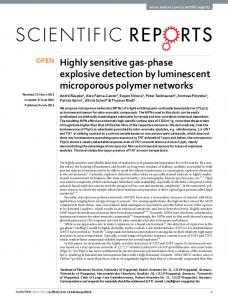 Highly sensitive gas-phase explosive detection by ... - Semantic Scholar