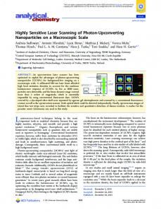 Highly Sensitive Laser Scanning of Photon ... - ACS Publications