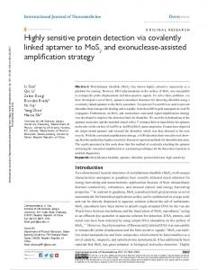 highly sensitive protein detection via covalently linked