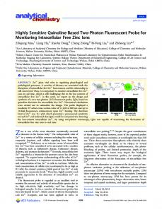 Highly Sensitive Quinoline-Based Two-Photon Fluorescent Probe for ...