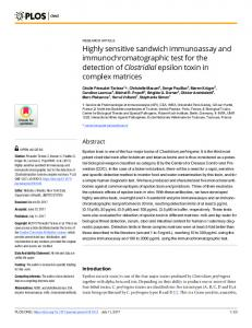 Highly sensitive sandwich immunoassay and ... - Plos