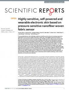 Highly sensitive, self-powered and wearable ... - CyberLeninka