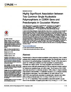Highly Significant Association between Two ... - Semantic Scholar
