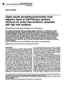 Highly soluble phenylethynyl-terminated imide oligomers ... - Nature
