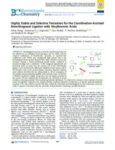 Highly Stable and Selective Tetrazines for the ... - ACS Publications