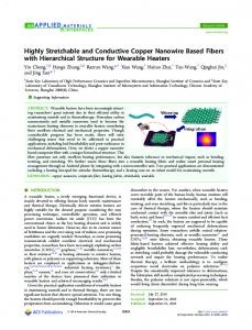 Highly Stretchable and Conductive Copper ... - ACS Publications
