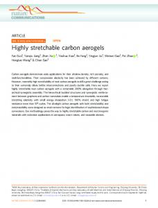 Highly stretchable carbon aerogels - Nature