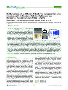 Highly Transparent and Flexible Triboelectric ... - ACS Publications