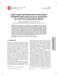 Highly Visible-Light-Responseive Photocatalytic AgCl