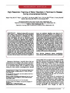 Highresolution tracking of motor disorders in Parkinsons ... - Delsys