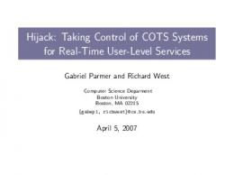 Hijack: Taking Control of COTS Systems for Real ... - Computer Science
