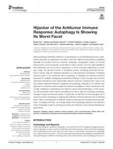 Hijacker of the Antitumor Immune Response - Semantic Scholar
