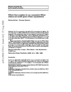 Hilbert-Chow morphism for non commutative Hilbert schemes and