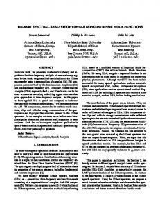HILBERT SPECTRAL ANALYSIS OF VOWELS USING INTRINSIC ...