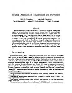 Hinged Dissection of Polyominoes and Polyforms - Erik Demaine