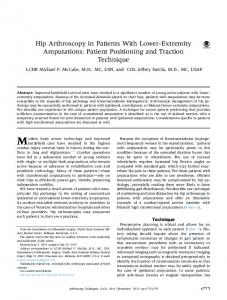 Hip Arthroscopy in Patients With Lower-Extremity Amputations: Patient ...