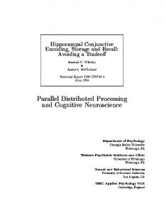 Hippocampal conjunctive encoding, storage, and ...