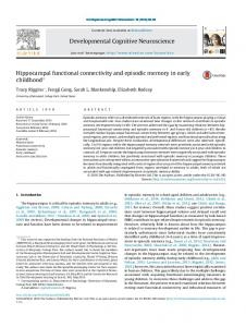 Hippocampal functional connectivity and episodic ... - DSCN Lab
