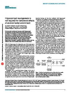 Hippocampal neurogenesis is not required for