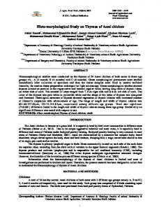 Histo-morphological Study on Thymus of Aseel chicken - TEXTROAD ...