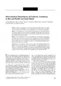 Histochemical Distribution of Carbonic Anhydrase in Rat and ... - IOVS