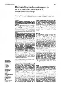 Histological findings in gastric mucosa in patients treated with ... - NCBI