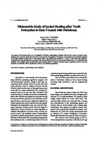 Histometric study of socket healing after tooth extraction in rats treated ...