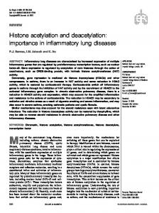 Histone acetylation and deacetylation: importance in ... - CiteSeerX