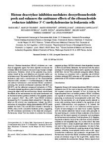 Histone deacetylase inhibition modulates deoxyribonucleotide pools ...