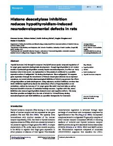 Histone deacetylase inhibition reduces hypothyroidism-induced ...