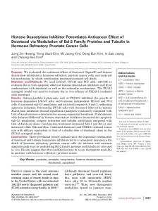 Histone Deacetylase Inhibitor Potentiates Anticancer Effect of ...