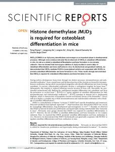 Histone demethylase JMJD3 is required for ... - Semantic Scholar