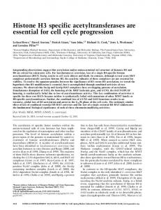 Histone H3 specific acetyltransferases are essential for cell cycle ...