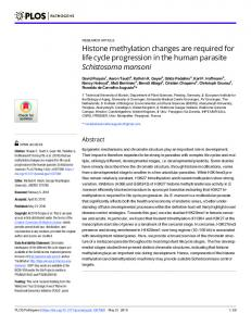 Histone methylation changes are required for life cycle ... - PLOS