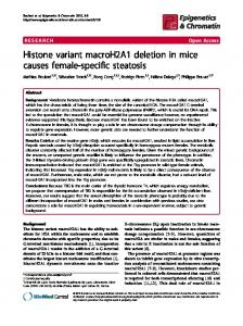 Histone variant macroH2A1 deletion in mice causes female-specific ...