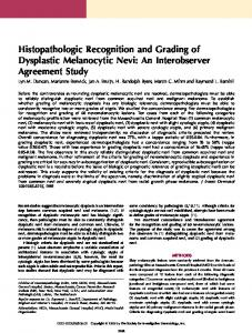 Histopathologic Recognition and Grading of Dysplastic ... - Core