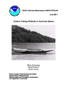 Historic Fishing Methods in American Samoa - Pacific Islands ...
