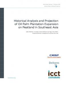 Historical Analysis and Projection of Oil Palm Plantation Expansion on ...