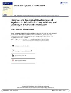 Historical and Conceptual Developments of