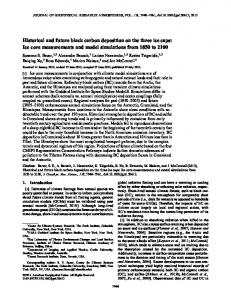 Historical and future black carbon deposition on the three ice caps: Ice ...