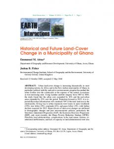 Historical and Future Land-Cover Change in a Municipality of Ghana